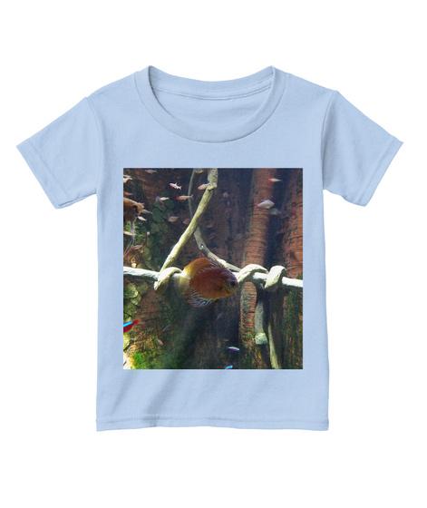 Toddler Aquatic Fashion Light Blue T-Shirt Front