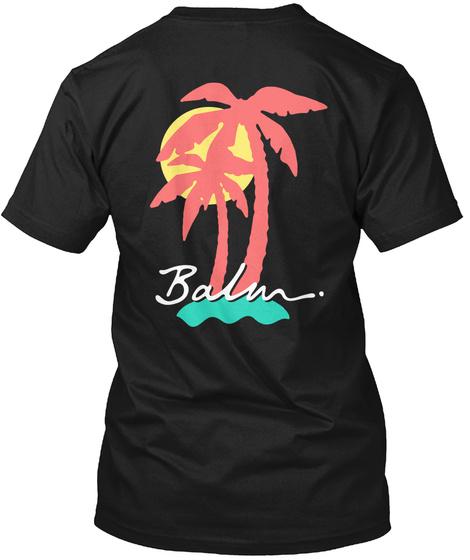 Balm. Black T-Shirt Back