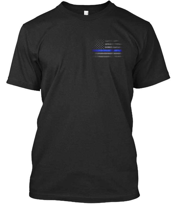 Distressed-Thin-Blue-Line-Flag-Premium-Tee-T-Shirt thumbnail 6