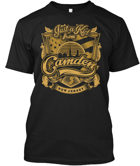 Just A Kid From Camden New Jersey Black T-Shirt Front