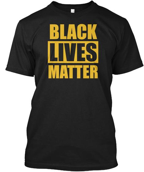 Black Lives Matter Anti Racism Logo Tee Black T-Shirt Front