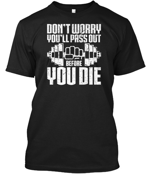 1020,Dont Worry Personal Trainer Black T-Shirt Front