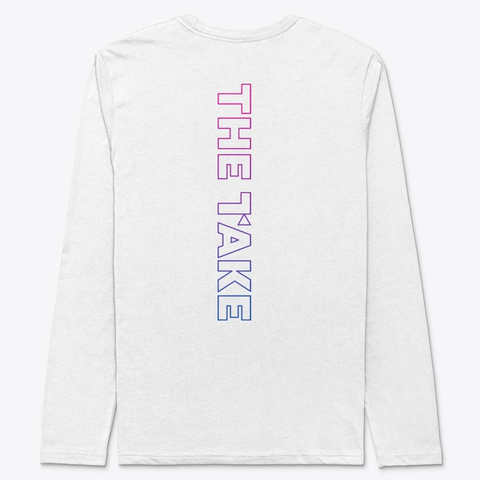 Cinema New Wave Long Sleeve White T-Shirt Back