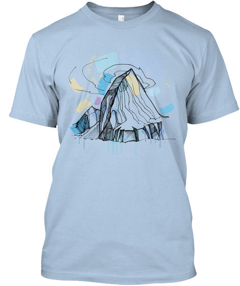Alchemical Mountain Baby Blue T-Shirt Front