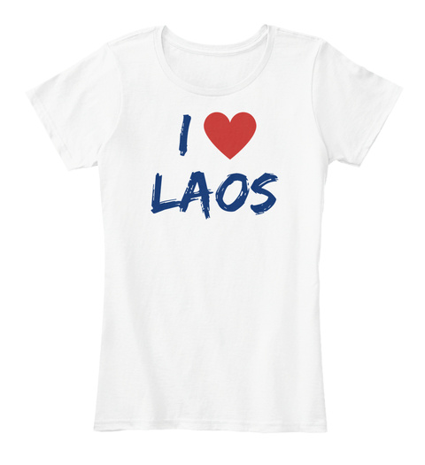 I Laos White T-Shirt Front
