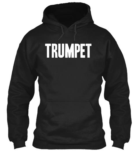 Trumpet Black Sweatshirt Front