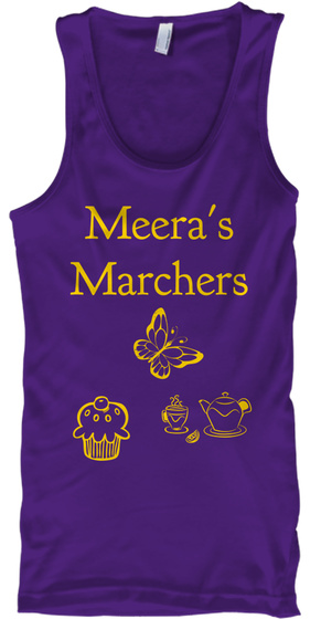 Meera's Marchers Purple T-Shirt Front