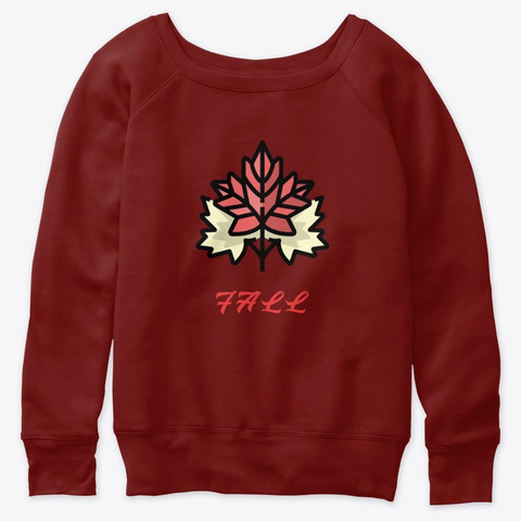 Fall Dark Red Triblend T-Shirt Front