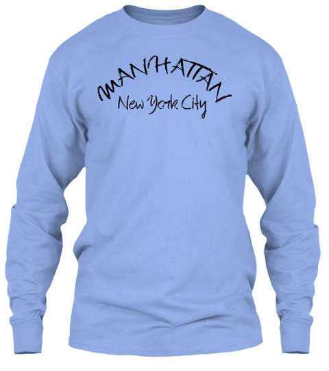 Manhattan New York City Light Blue T-Shirt Front