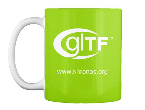Gltf Tm Www.Khronos.Org Lime Green T-Shirt Front