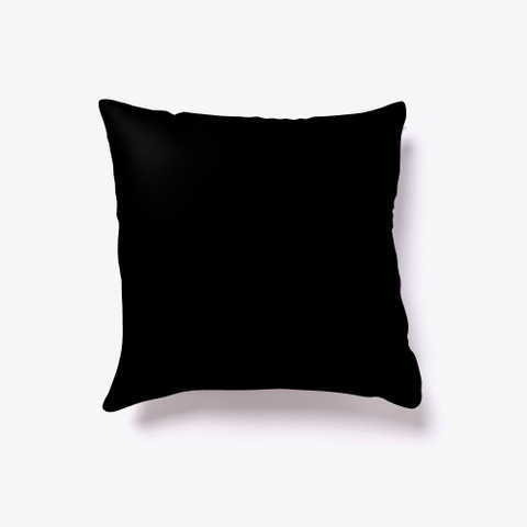 Indoor Pillow: Inspiration Black T-Shirt Back