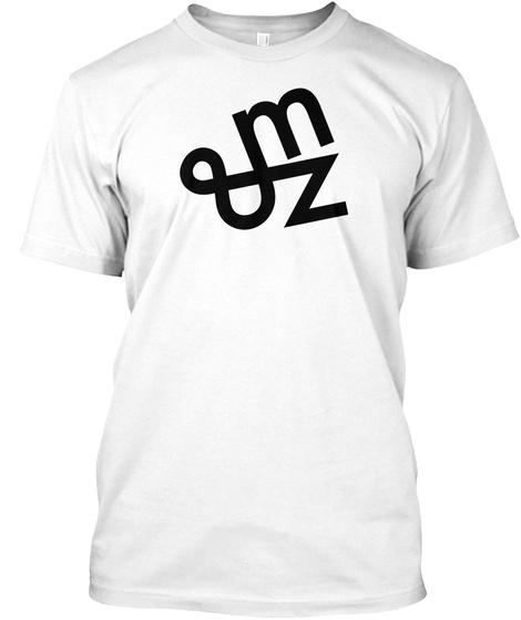 Mz Tees Logo White T-Shirt Front