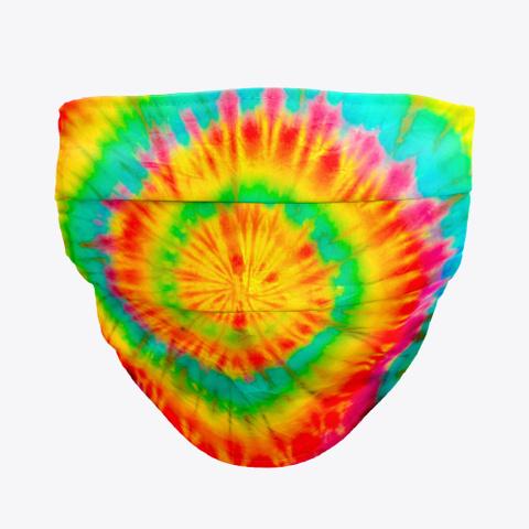 coronavirus face mask tie dye