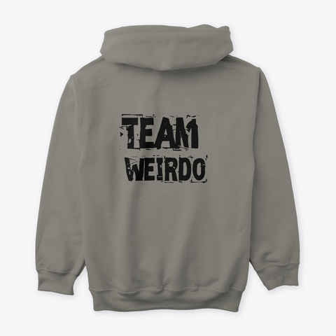 Team Weirdo  Charcoal T-Shirt Back