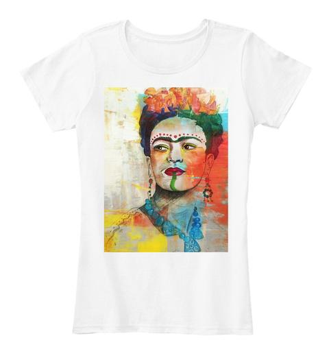 Frida Kahlo Shamaness White Women's T-Shirt Front