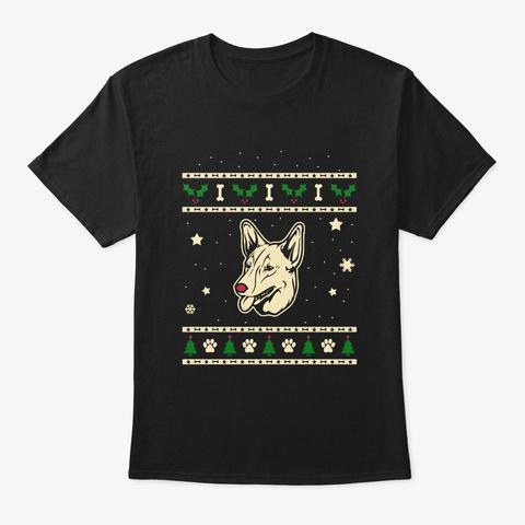 Christmas Australian Kelpie Gift Black T-Shirt Front