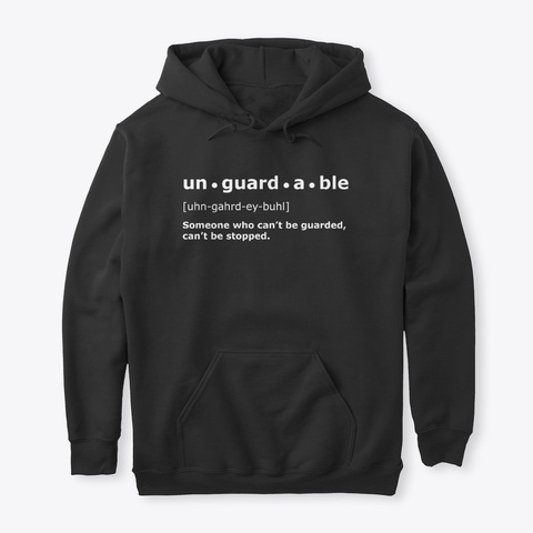 Unguardable | Black Hoodie Black T-Shirt Front