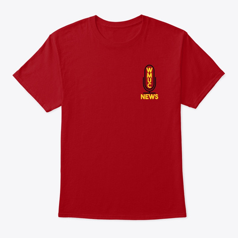 Wmuc News Supporter Tee Deep Red T-Shirt Front