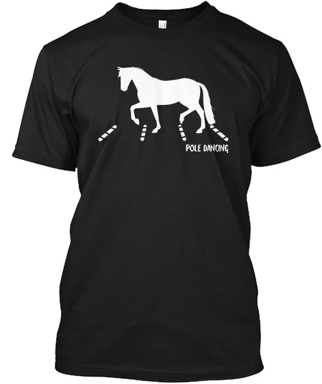 Pole Dancing Black T-Shirt Front