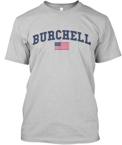 Burchell Family Flag Light Steel T-Shirt Front