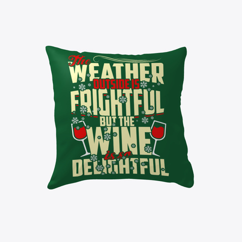 Christmas Gifts For Wine Lovers Dark Green T-Shirt Back