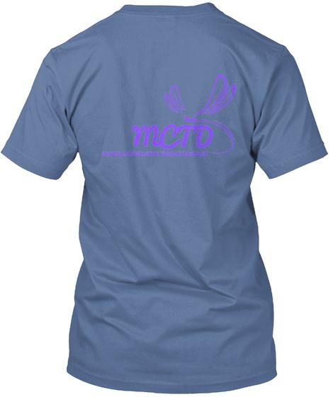 Mcto Mixed Connective Tissue Disease Denim Blue T-Shirt Back