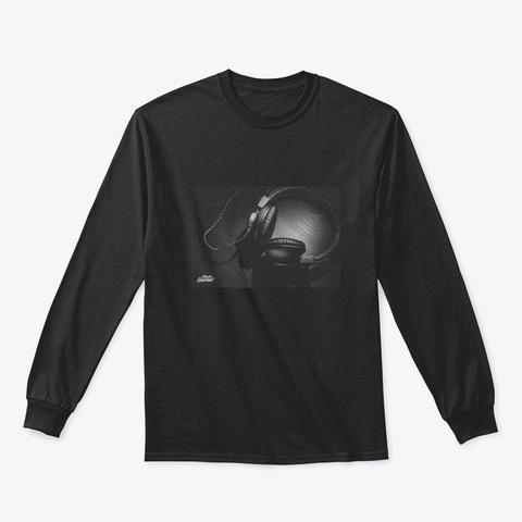 Headphone Apparel Black T-Shirt Front