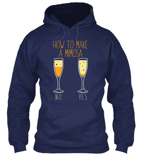 How To Make A Mimosa Navy T-Shirt Front