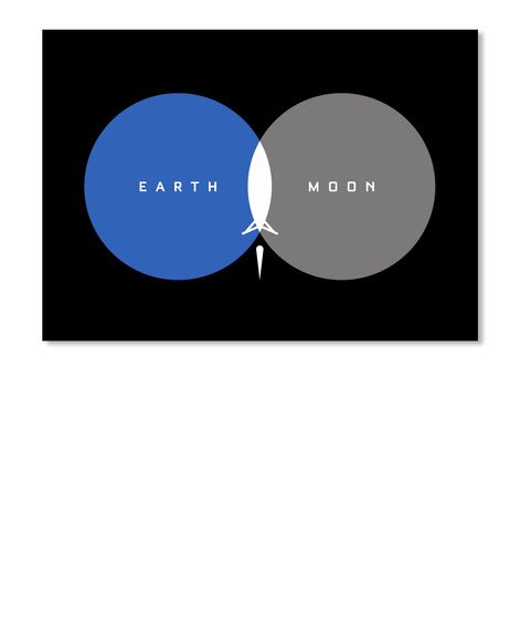 From Earth To Moon Sticker [Usa] #Sfsf Black Sticker Front