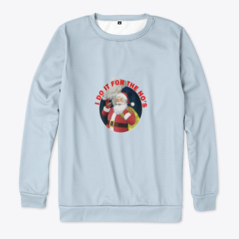 Christmas Sweatshirt Pale Blue T-Shirt Front