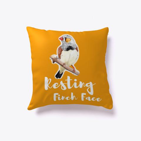Resting Finch Face Orange T-Shirt Front