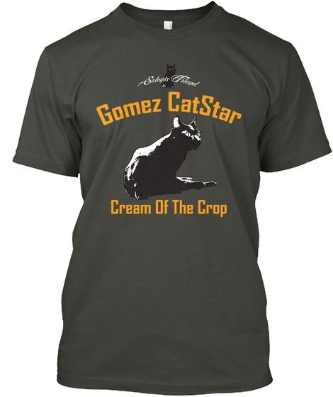 Gomez Cat Star Cream Of The Crop Smoke Gray T-Shirt Front