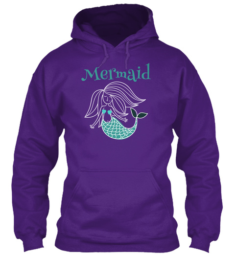 Mermaid Underwater Ocean Purple T-Shirt Front