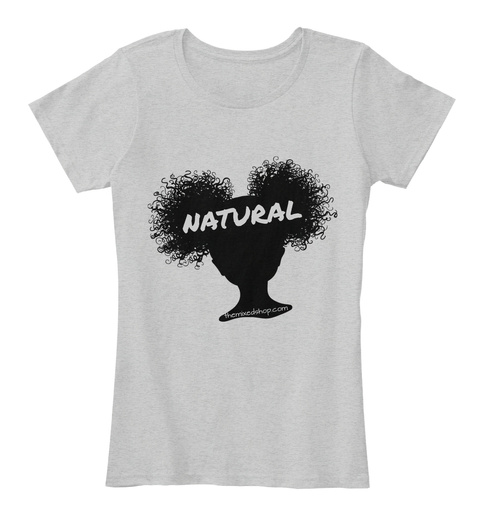 Natural Light Heather Grey T-Shirt Front