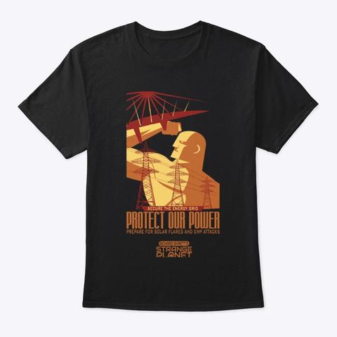 Power Grid Black T-Shirt Front