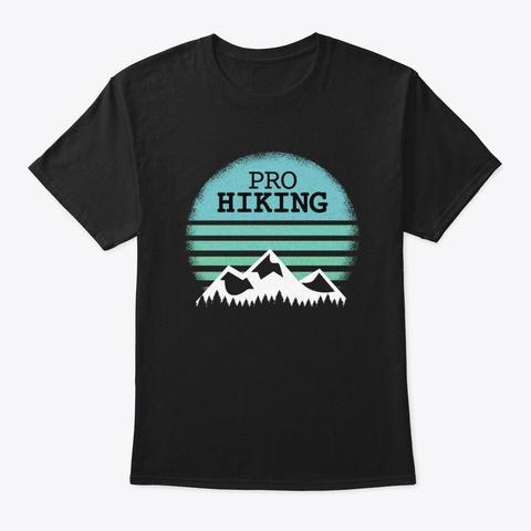 Hiking T Shirt Design Black T-Shirt Front