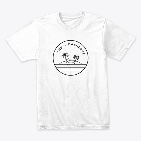 Official Dashley Logo   Black White T-Shirt Front
