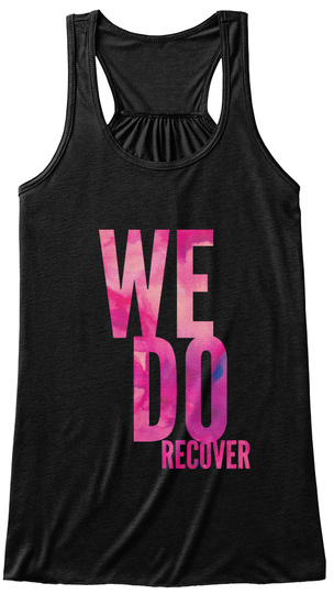 We Do Recover Black Women's Tank Top Front