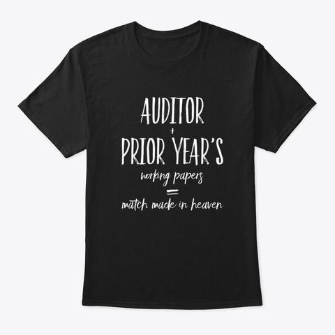 Funny Auditor Design Black T-Shirt Front