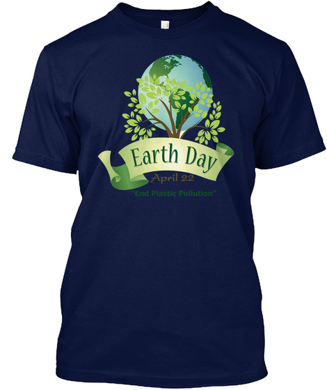 2018 Earth Day T Shirts Navy T-Shirt Front