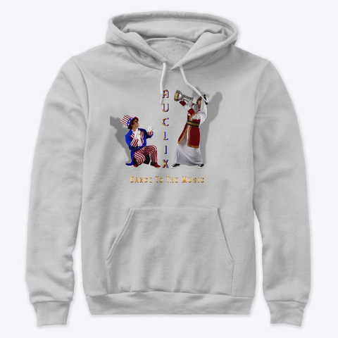 Au Clix Is Keeping Dancing Athletic Heather T-Shirt Front
