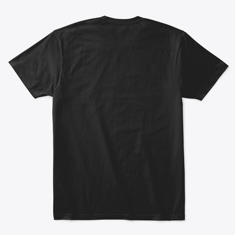 His Only Queen Design Black T-Shirt Back