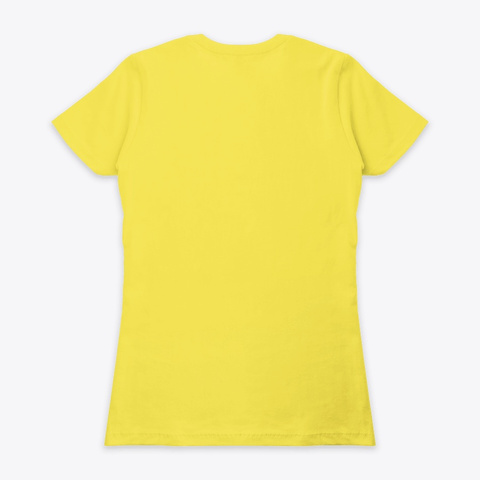 Happiness Is Being A Nanny Grandma  Vibrant Yellow T-Shirt Back
