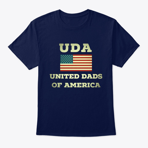 Veteran United Dads Of America Navy T-Shirt Front