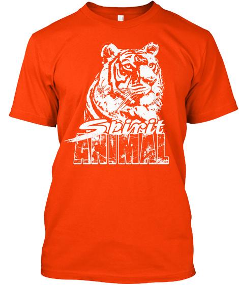 Spirit Animal Orange T-Shirt Front