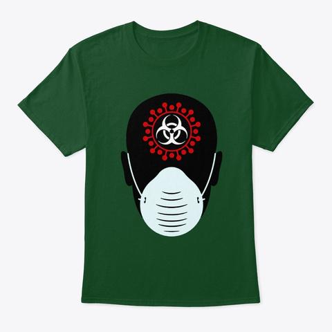 Corona Virus Art Design 1 Deep Forest T-Shirt Front