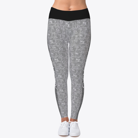 Periodic Table Gray Legging Standard T-Shirt Front