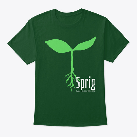 Sprig Seedling Deep Forest T-Shirt Front