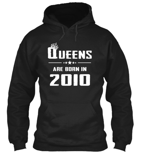 Queens Are Born In 2010 Black T-Shirt Front