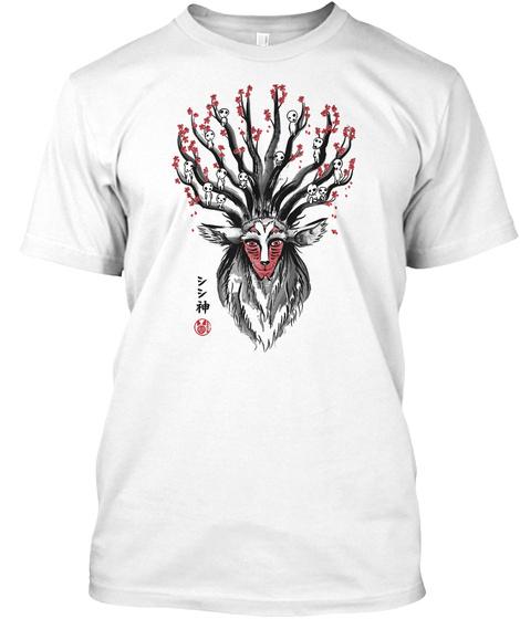 Princess Mononoke White T-Shirt Front